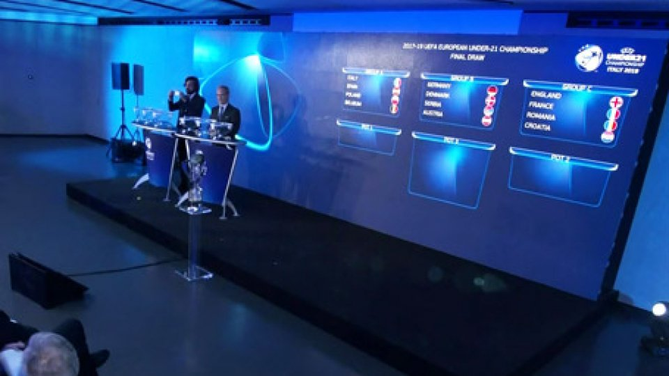 I sorteggiEuro U.21: A San Marino giocano Inghilterra, Francia, Croazia e Romania. Italia con Spagna, Polonia e Belgio