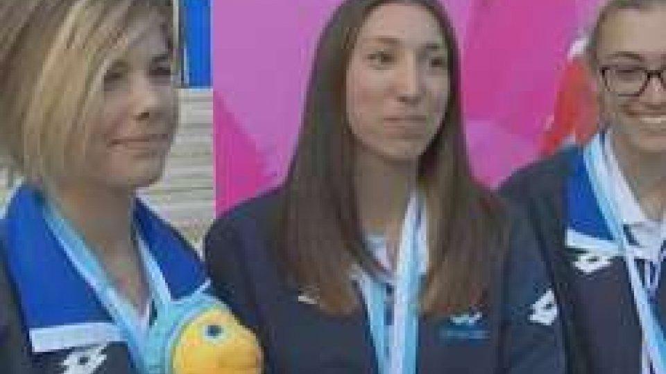Chiara Morri, Letizia Giardi Claudia PedrellaTennis Tavolo: Bronzo a squadre femminile e maschile, le premiazioni