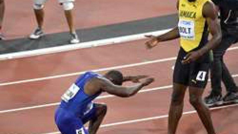 Bolt sconfitto nel giorno dell'addio