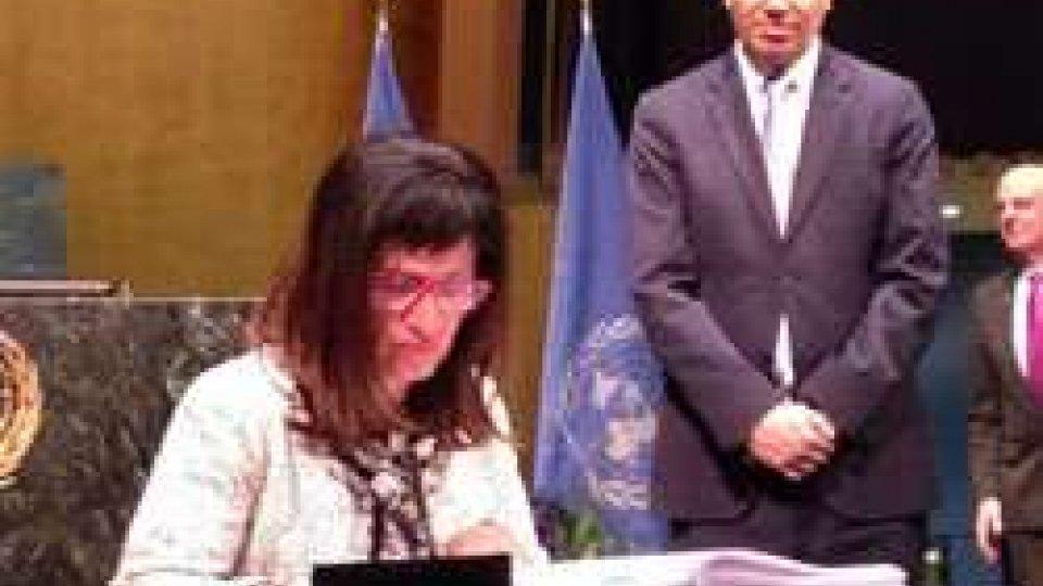 la firma di San MarinoOnu: San Marino ha sottoscritto lo storico accordo sul clima