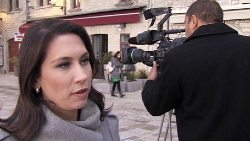 La giornalista Thais FurlanDal Brasile a San Marino: lo speciale di Record Tv per raccontare la nostra Repubblica