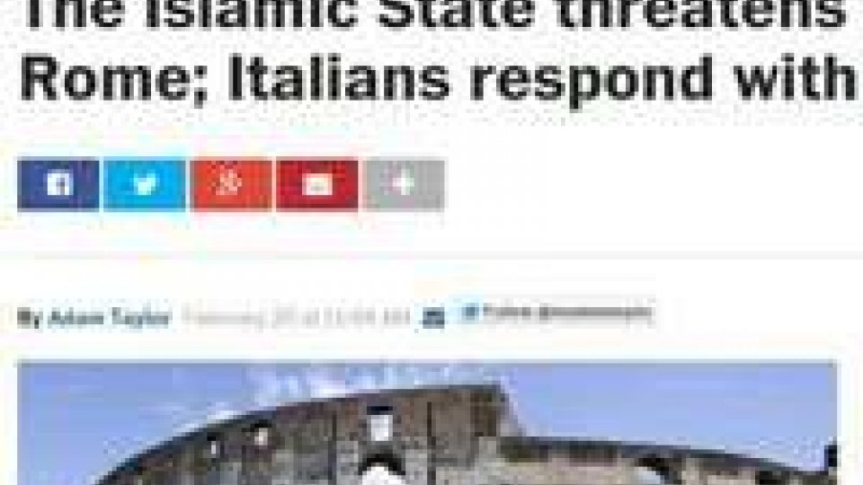 Isis minaccia Roma? Gli sfottò italiani sul Washington Post