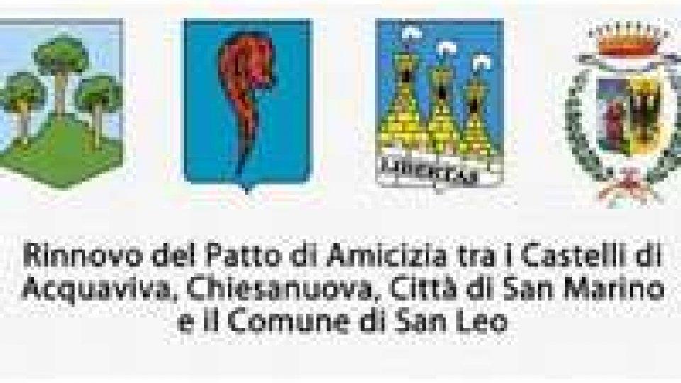 Rinnovo del patto di amicizia tra i Castelli di Acquaviva, Chiesanuova, Città di San Marino e il Comune di San Leo