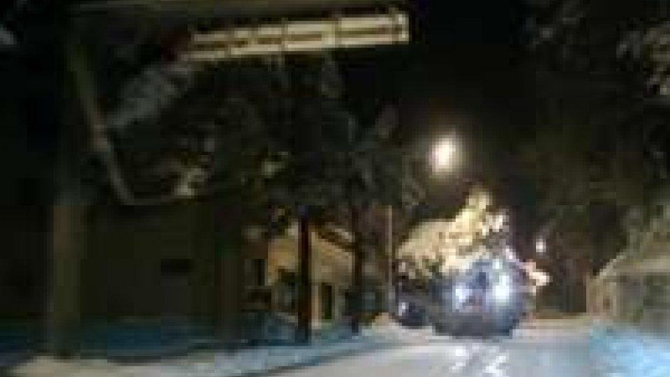 San Marino, neve: strade percorribili
