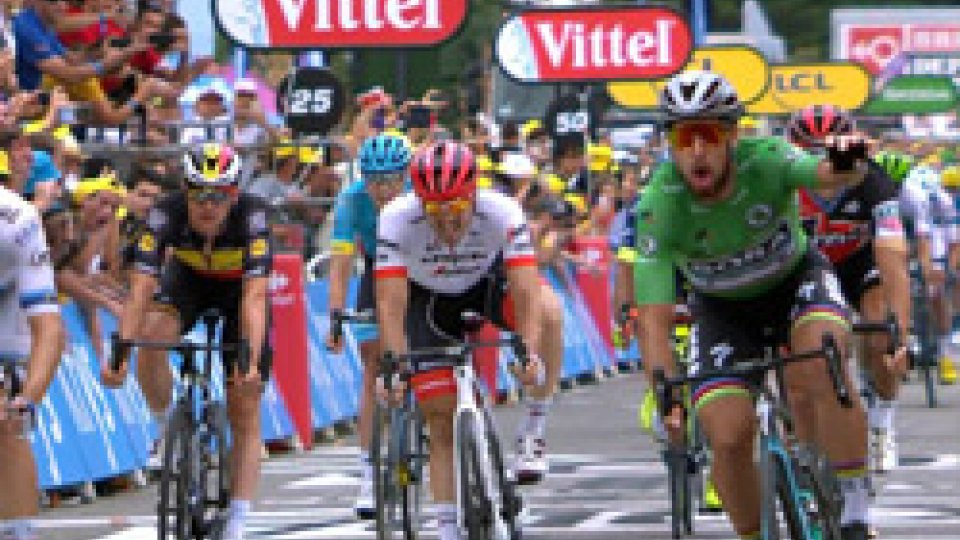 Tour de France: Sagan fa la voce grossa in volata