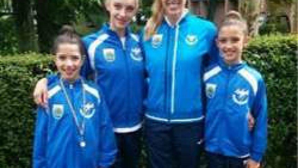 le ragazze della Società sportiva ginnastica San Marino
