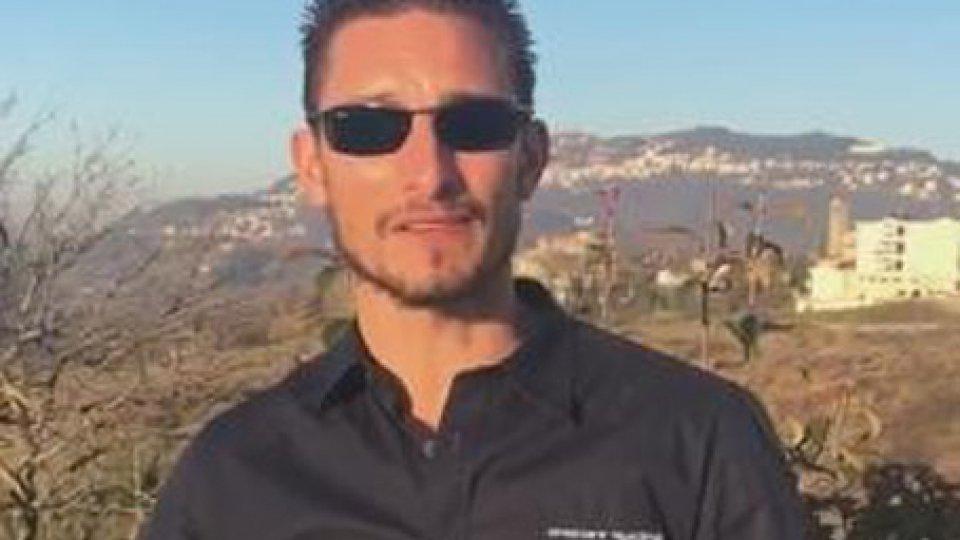 Manuel Poggiali nel video di ringraziamento