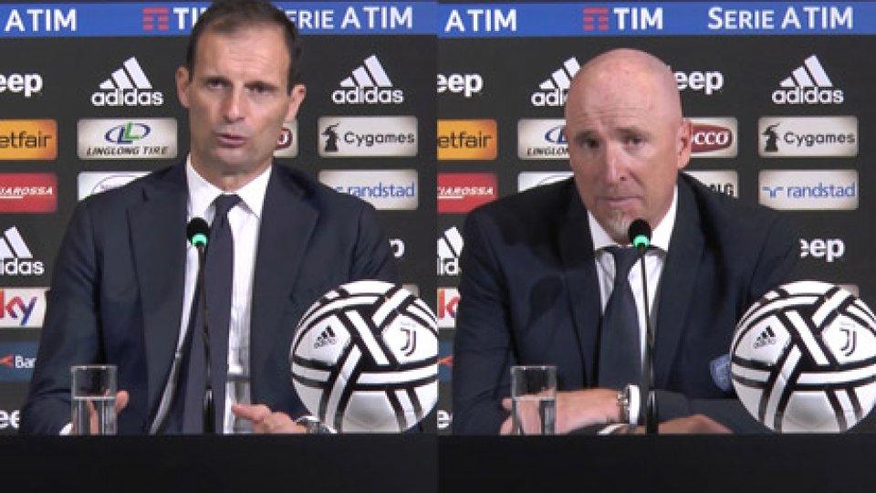 """Le interviste a Massimiliano Allegri e Rolando MaranJuventus-Cagliari 3-1, Allegri: """"Prendiamo troppi gol"""""""