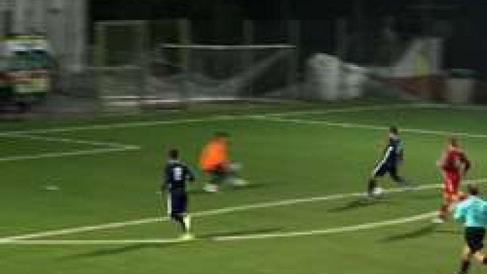 Il terzo gol del Tre PenneCoppa Titano: Tre Penne in rimonta, 3-1 al Pennarossa