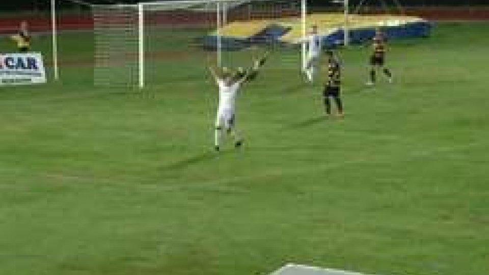 Santarcangelo-Fermana 1-5Disastro Santarcangelo: 1-5 con la Fermana, tris per Lupoli