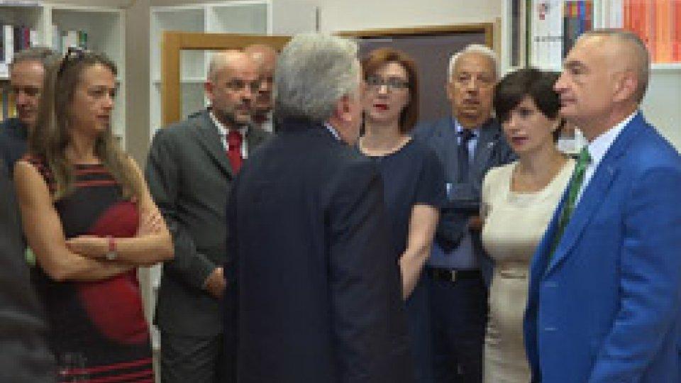 La delegazione all'UniversitàConclusa la visita del presidente Ilir Meta