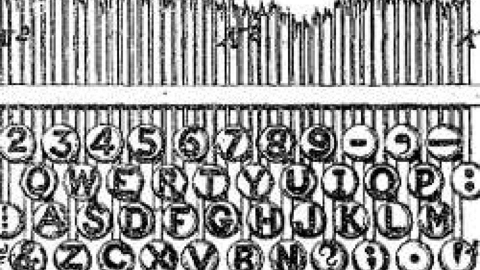 Tastiera QWERTY disegnata da Sholes
