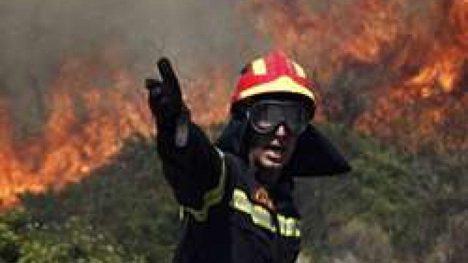 Pompiere in azione