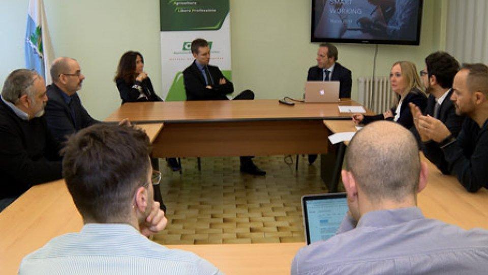 """Osla conferenza stampaLavoro: anche a San Marino si apre la strada dello """"smart working"""""""