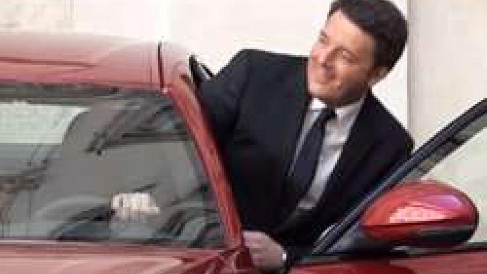 Un momento della presentazioneMatteo Renzi e Sergio Marchionne presentano la nuova Giulia, l'ultima berlina in casa Alfa Romeo