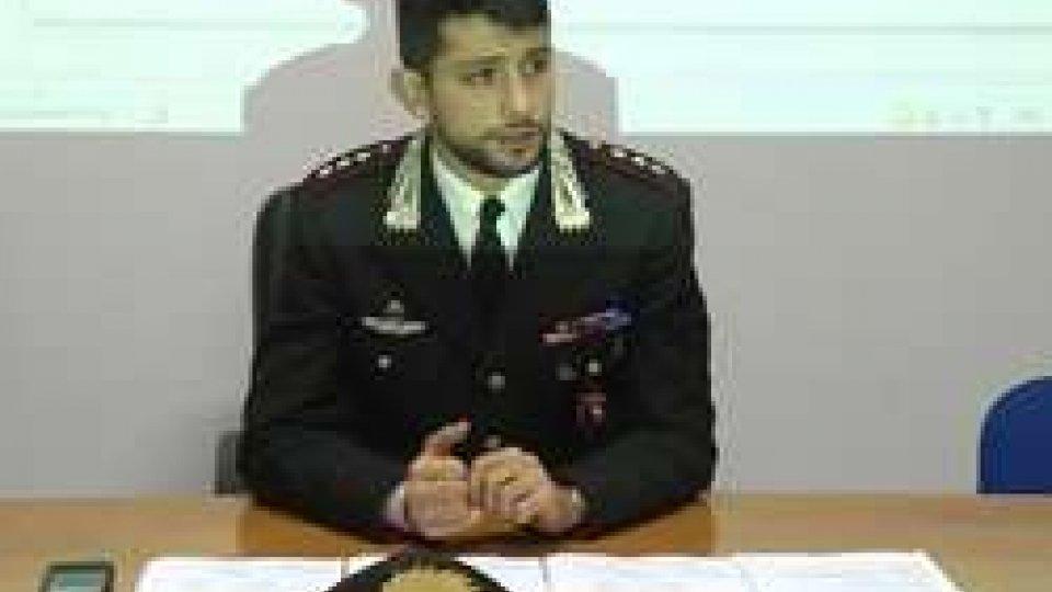 Conf. Stampa CarabinieriI Carabinieri di Riccione  bloccano giro di spaccio