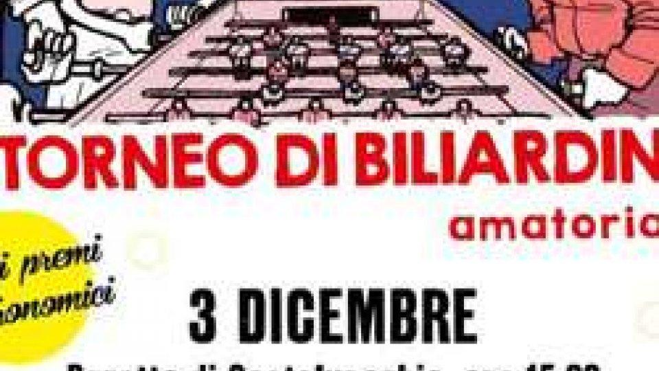 Domenica 3 dicembre la 6° edizione del torneo di biliardino – amatoriale