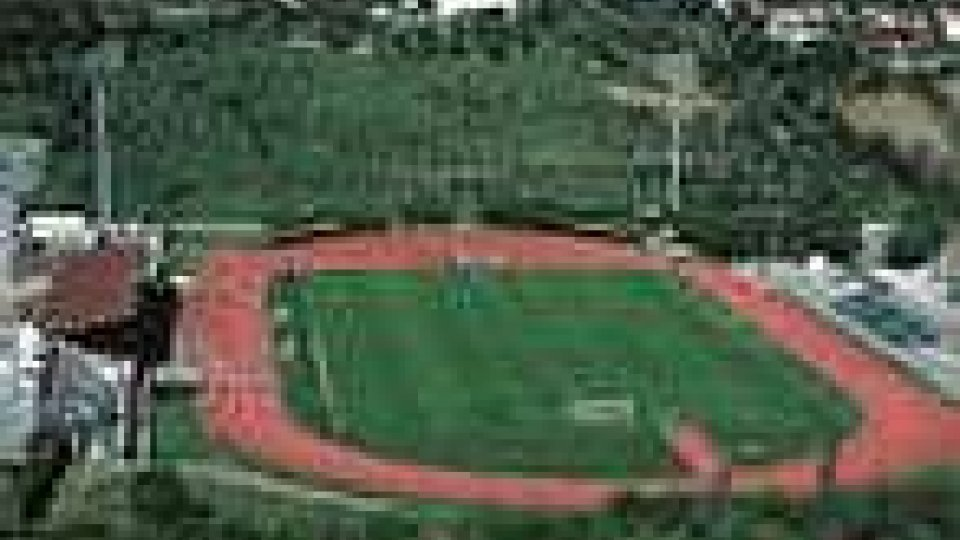 Lo stadio Olimpico a Serravalle