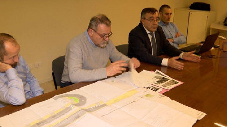 La presentazioneMarciapiede di via Paolo III: presentato il progetto alla Sala Polivalente di Murata