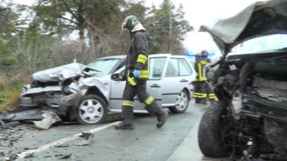 le auto dopo l'incidente