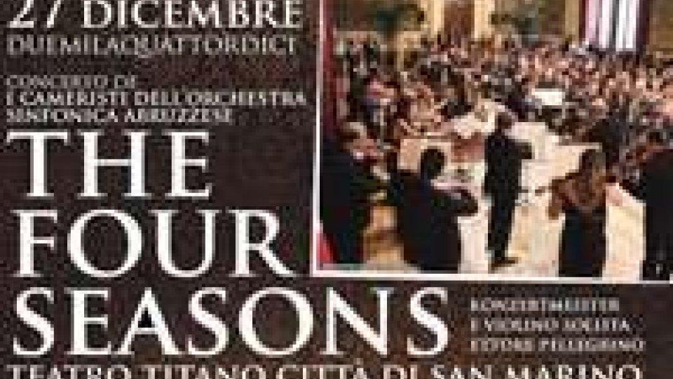 """""""The four season"""": I Cameristi dell'Orchestra Sinfonica Abruzzese, per il Natale del Titano"""