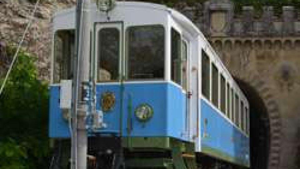 Trenino bianco azzurro