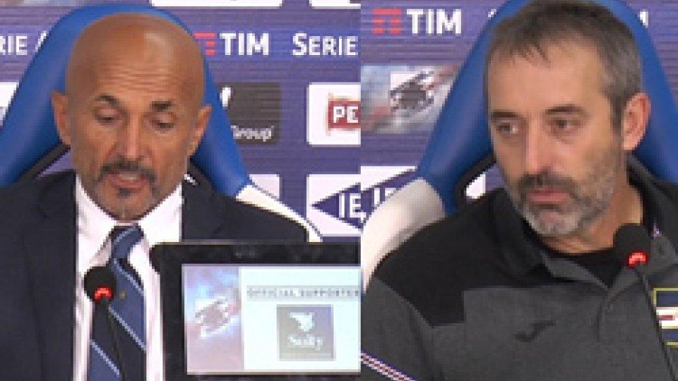 """Serie A: Giampaolo: """"la peggior sconfitta della mia carriera"""". Spalletti:"""" abbiamo vinto meritatamente"""""""