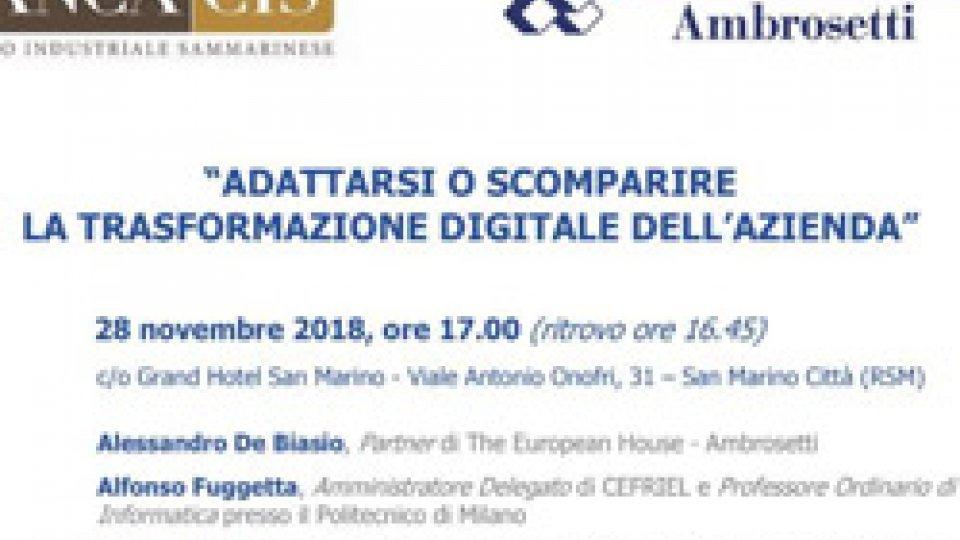 28 Novembre: Banca Cis e Studio Ambrosetti dialogano sul nuovo paradigma della competizione