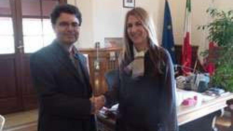 Il premio Nobel per la pace Fethi Hammami ricevuto questa mattina in Residenza Comunale