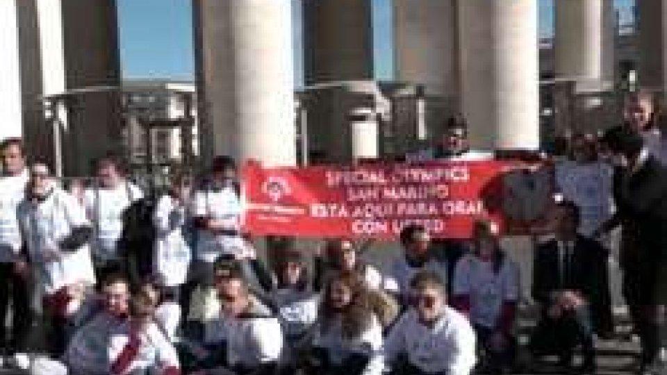 """Special Olympics ricevuti da Papa Francesco, che ha promesso: """"So che verrò a San Marino"""""""