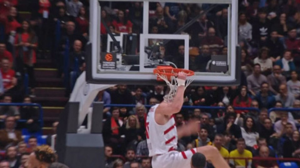 Milano supera 87-83 MaccabiEurolega: super James, Milano supera 87-83 Maccabi