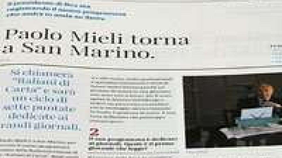 Rai e San Marino: il Segretario Belluzzi ringrazia Mieli