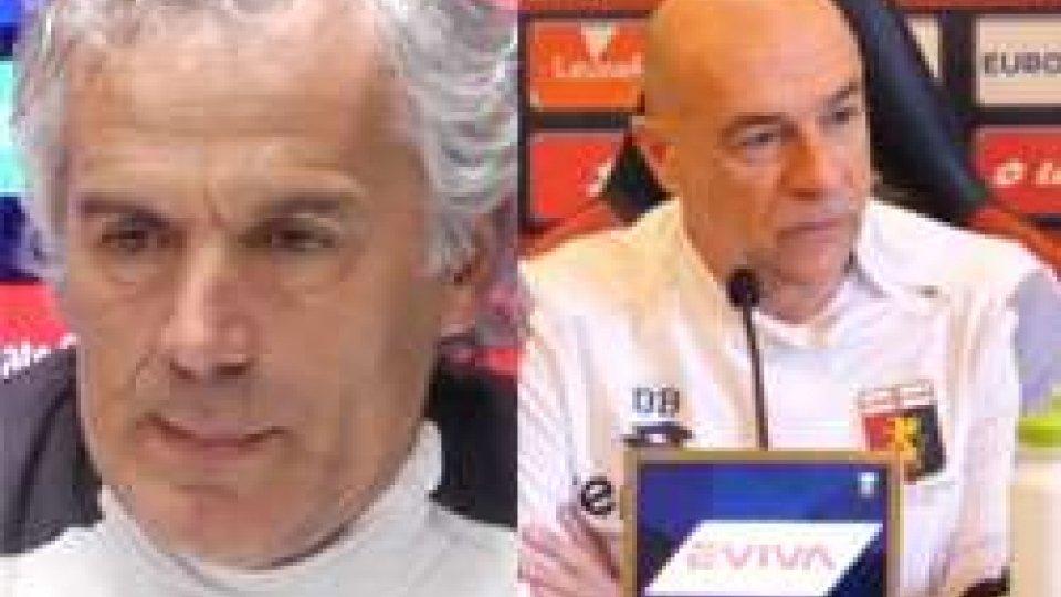 Roberto Donadoni e Davide BallardiniBallardini e Donadoni in conferenza stampa pre partita