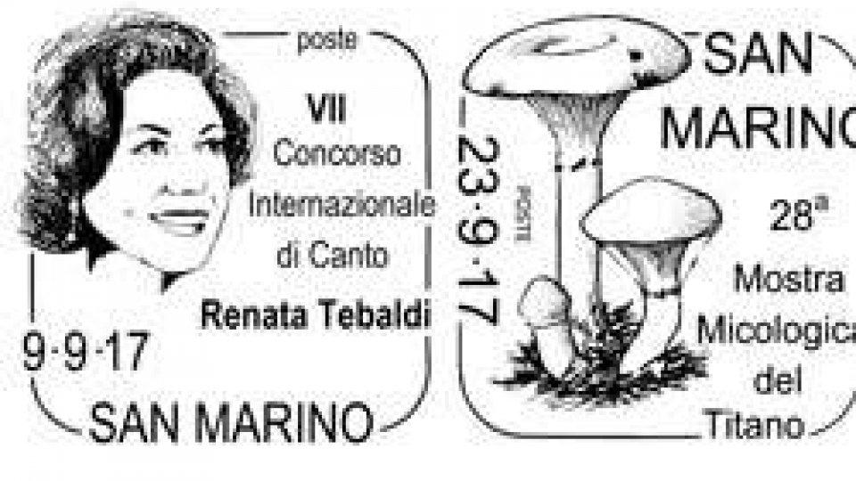 Annulli speciali Renata Tebaldi e Mostra micologica del Titano