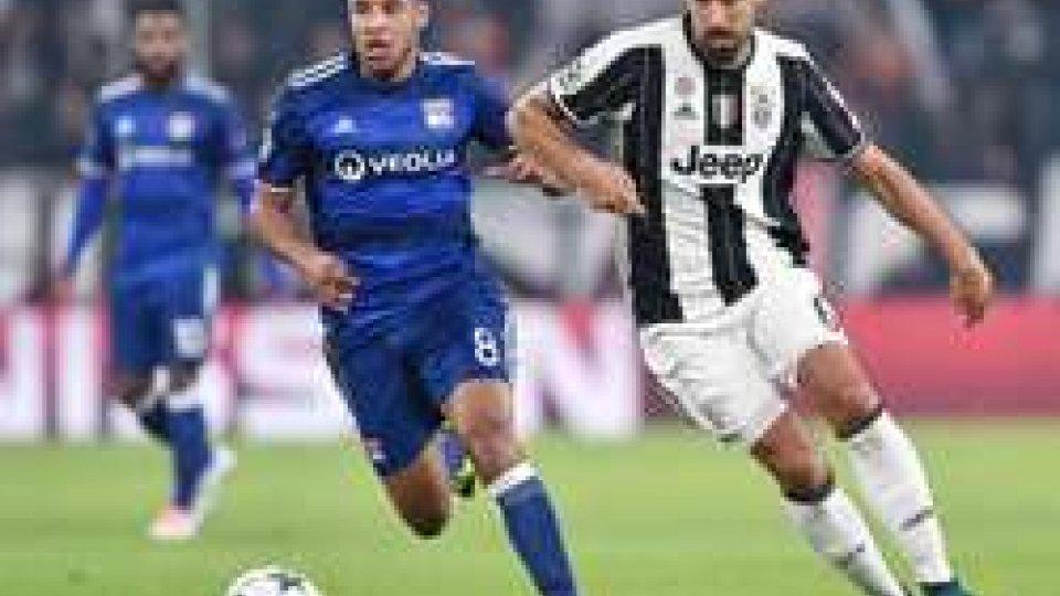 Champions League: Juventus Lione 1-1Champions League: Juventus Lione 1-1