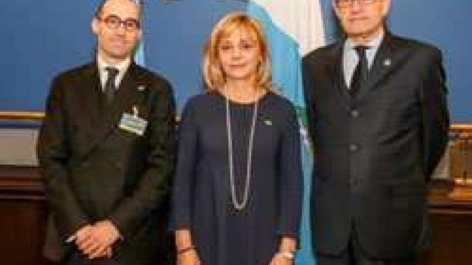 Lorella Stefanelli e Nicola Renzi con Michael MollerReggenza a Ginevra: ribadito l'impegno nel sistema delle Nazioni Unite
