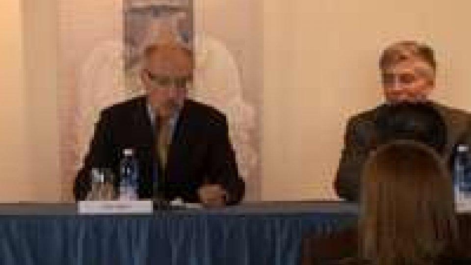 San Marino - Carisp: il saluto di Sibani e il discorso di Borin
