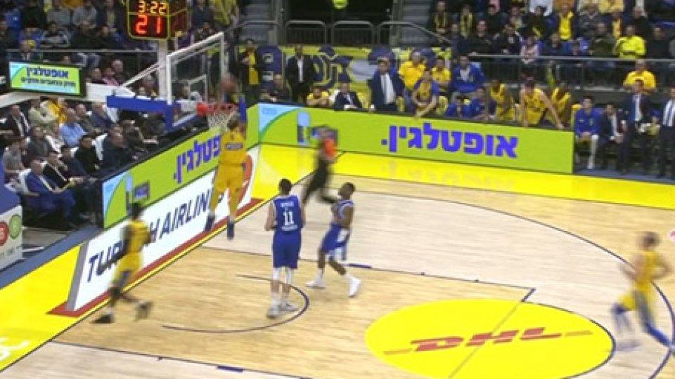 Bella vittoria per il MaccabiIn Eurolega vincono anche Maccabi, Pana e Cska