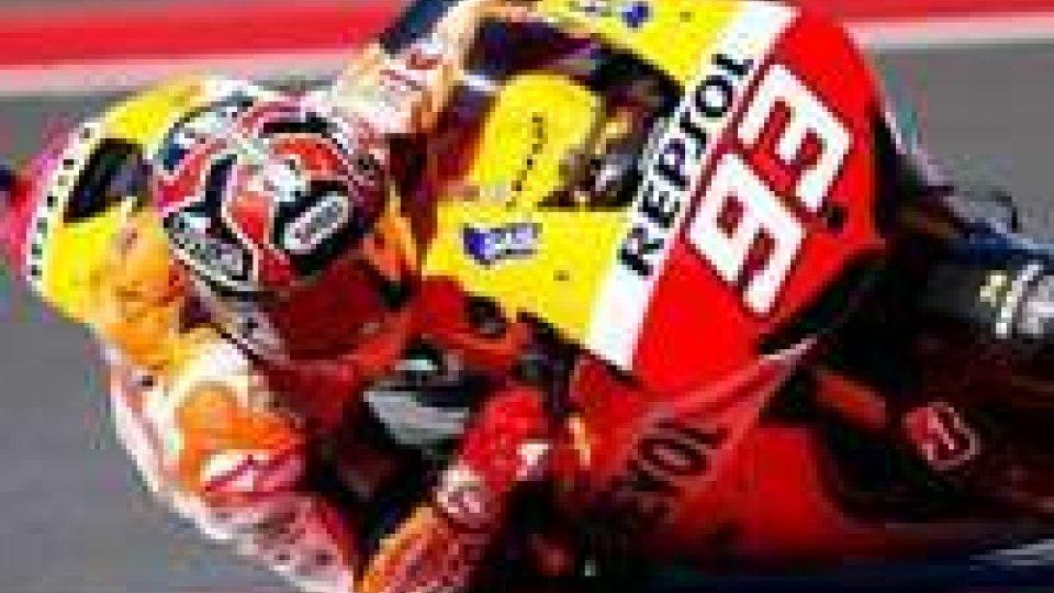 Indianapolis: Marquez domina prime libere, Rossi quinto