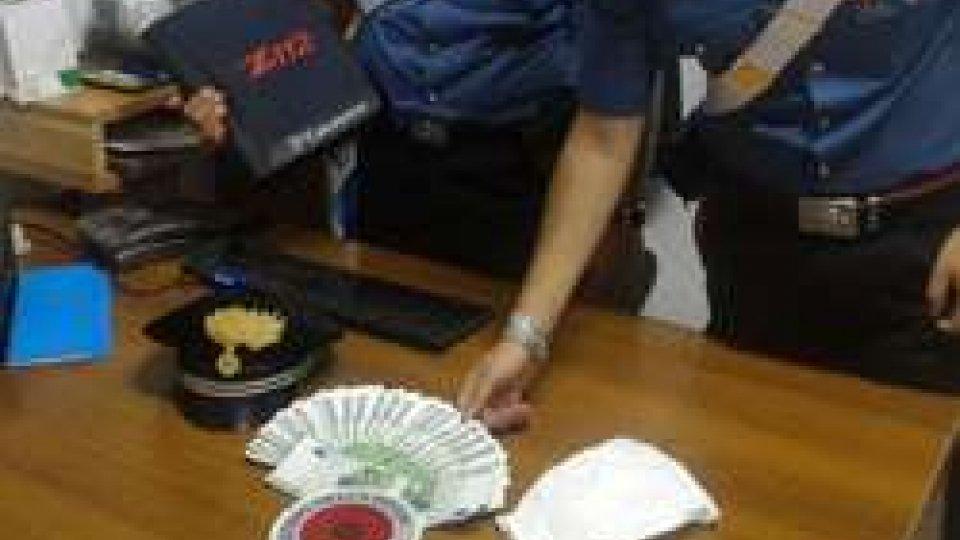 Banconote false sequestrate dai carabinieri di Rimini