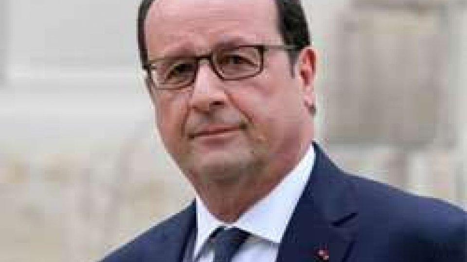 il presidente francese Hollande