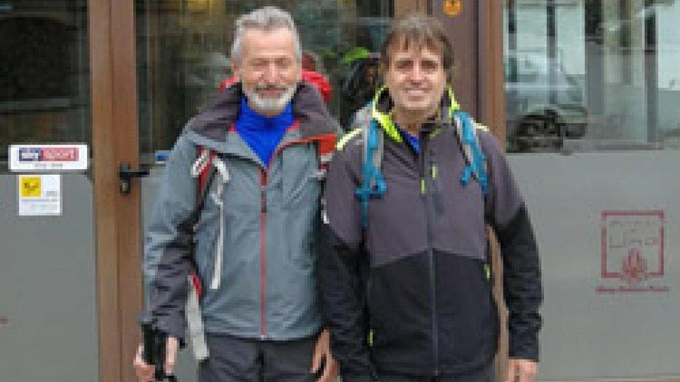Amato Ronconi: Giovanni Francesco Ugolini e Enzo Beccari in pellegrinaggio a Saludecio