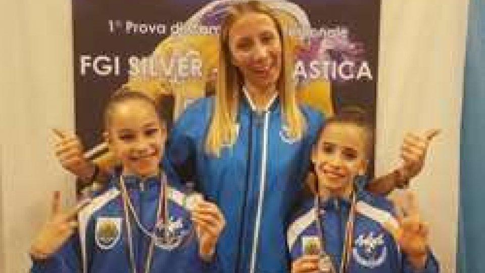 Nella foto le ginnaste Chierighini e Vannoni