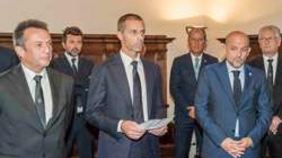 Foto PruccoliUEFA: Aleksander Ceferin ricevuto dai Capi di Stato a San Marino