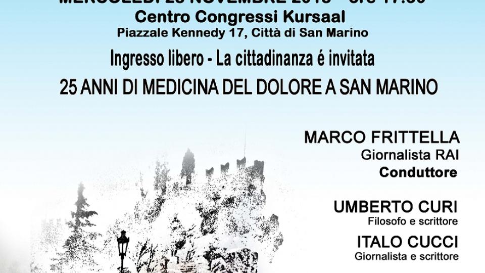 """ISS: """"Ho visto diradarsi la nebbia"""" - Uno sguardo sul dolore in una conferenza-dibattito a San Marino"""