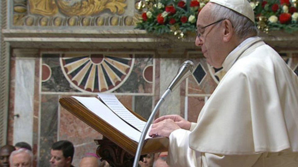 """Papa FrancescoPapa Francesco: """"Abbiamo fatto un buon accordo con San Marino"""""""