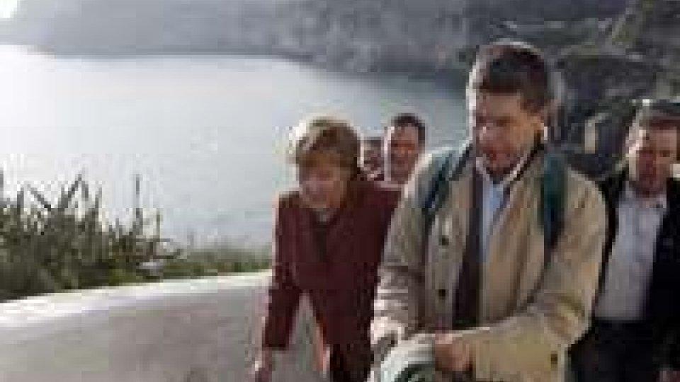 Merkel in visita all'Acropoli di Pozzuoli