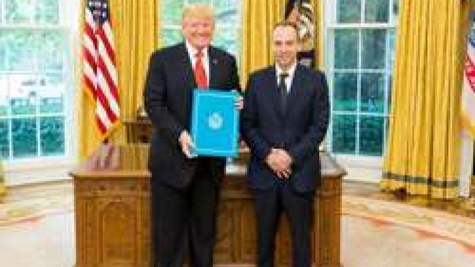 Il Presidente Trump e Damiano Beleffi