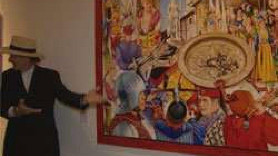 Anton Molnar scopre il quadro donato a San MarinoUn dipinto 'storico' sul 3 SETTEMBRE di Molnàr per lo Stato