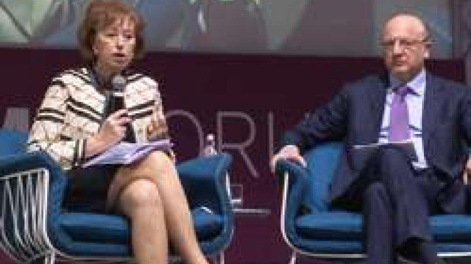 Letizia Moratti e Vincenzo BocciaPrimo forum sull'economia sostenibile a San Patrignano